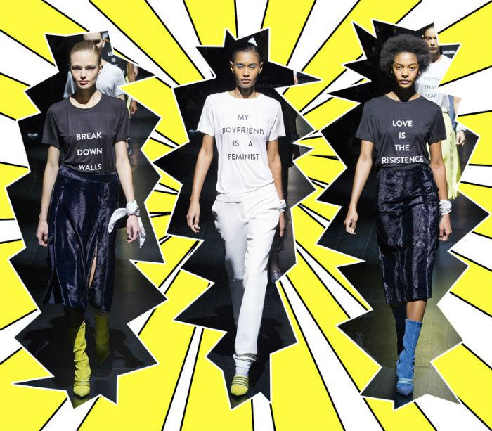 Serunya Aksi Politik Para Desainer Di New York Fashion Week 2017