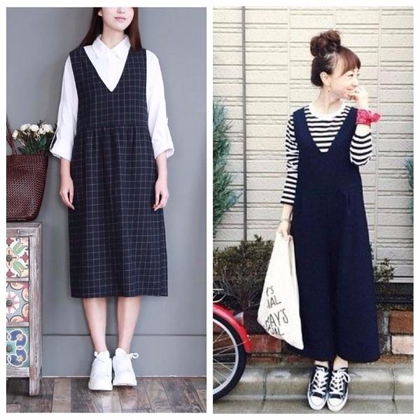 Begini Cara PakaiPinafore Midi Dress Biar Terlihat Menawan