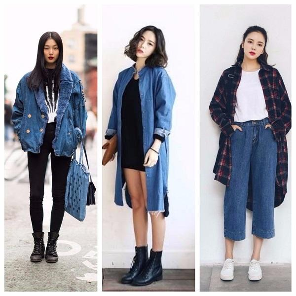 10 Inspirasi Gaya Denim Ala Street Style Korea Womantalk
