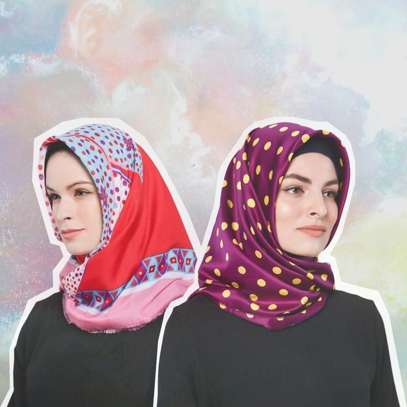 Lebaran Lebih Berwarna Dengan 20 Hijab Bermotif di Bawah Rp100.000