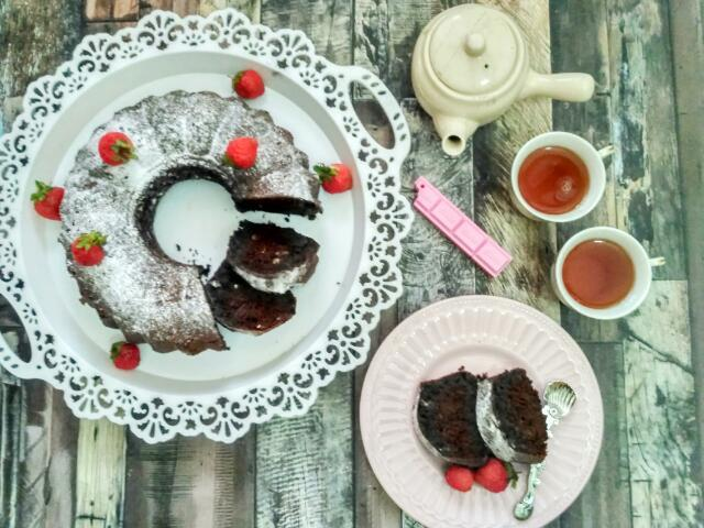 Camilan Untuk Lebaran: Cake Nutrijell Cokelat